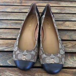 Coach Shoes - COACH Chelsea flats khaki/chestnut size 7.5